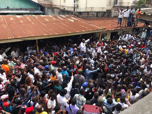 "Supporters of spurned Congo opposition candidate Martin Fayulu gather to hear him speak, in Kinshasha, Friday, Jan. 11, 2019. Hundreds gathered to denounce what they called ""the people's stolen victory� in the presidential election."