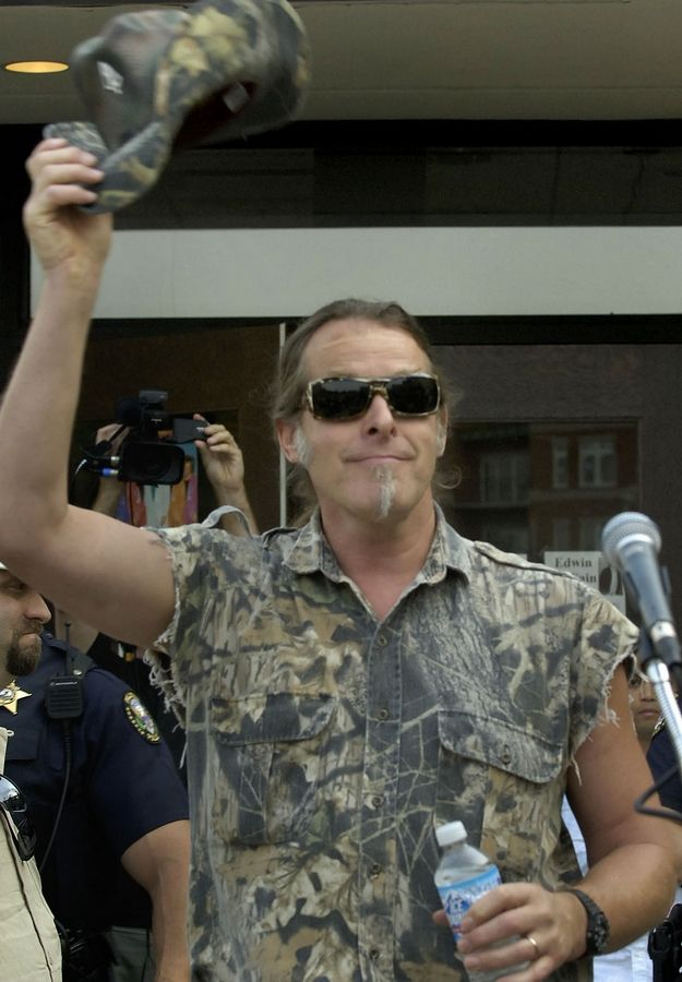 Ted Nugent in 2007 in Palatine, where he stopped to dedicate a memorial to his mother, a longtime resident.