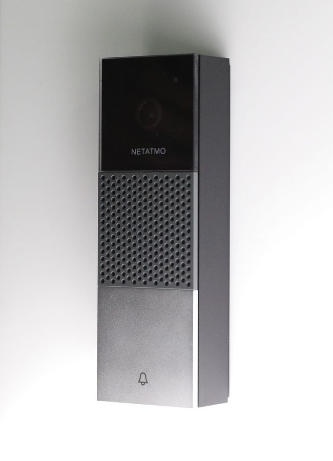 The Smart Video Doorbell is on display at the Netatmo booth during CES Unveiled at CES International, Sunday, Jan. 6, 2019, in Las Vegas. The doorbell allows the user to speak with visitors and monitor their home.