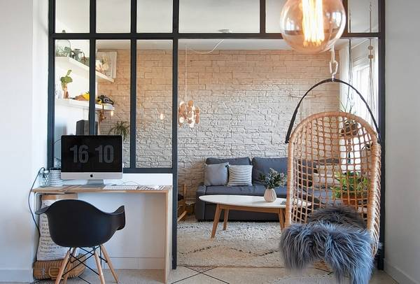 Glass-and-steel room dividers are becoming more popular, thanks to open floor plans.