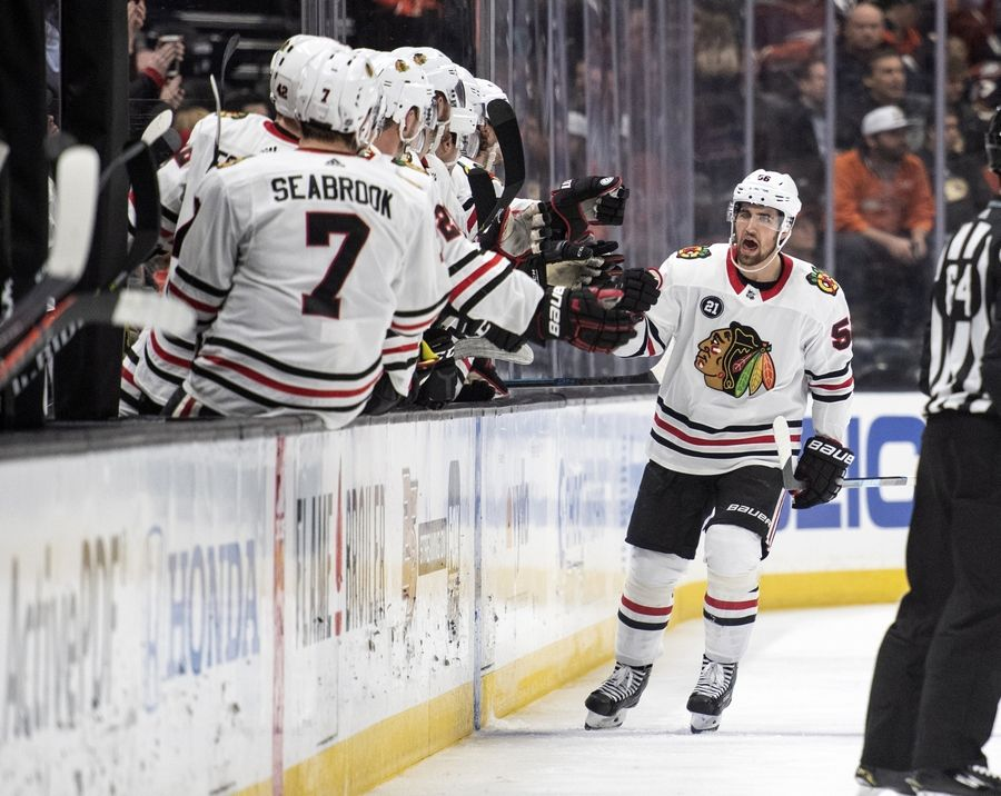 outlet store a4785 58652 Blackhawks' Gustafsson on brink of assist-streak record