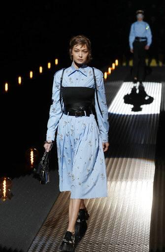 a model wears a creation as part of the john richmond mens fall winter 2019