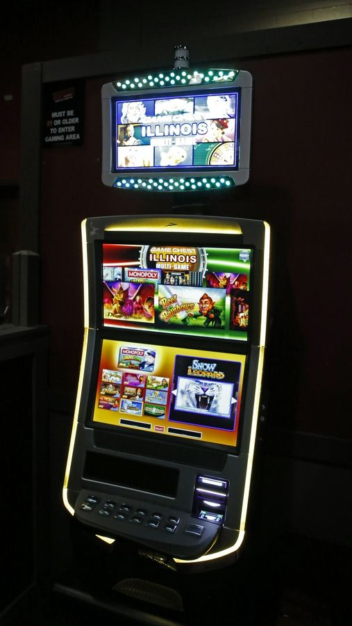 Although video gambling machines like this one are allowed in Mundelein, similar-looking electronic sweepstakes machines now are banned.