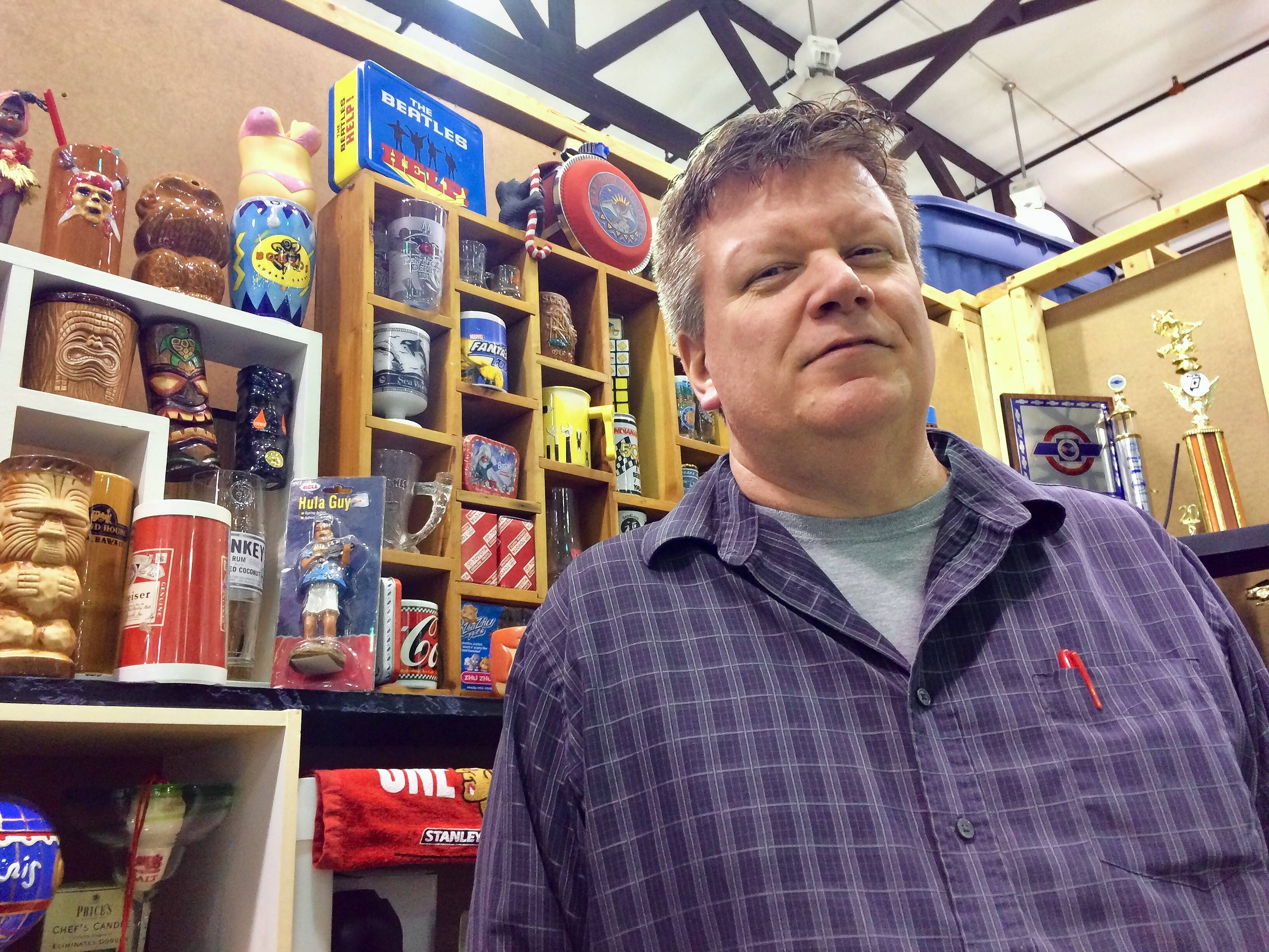 Aurora resident Greg Flamm has been a vendor at the indoor Wolff's Flea Market in Palatine.