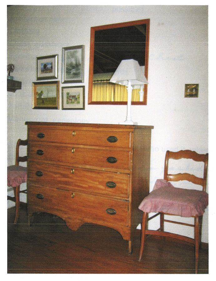 The Shumway family blanket chest, circa 1844, was donated to the Bess Bower Dunn Museum of Lake County.