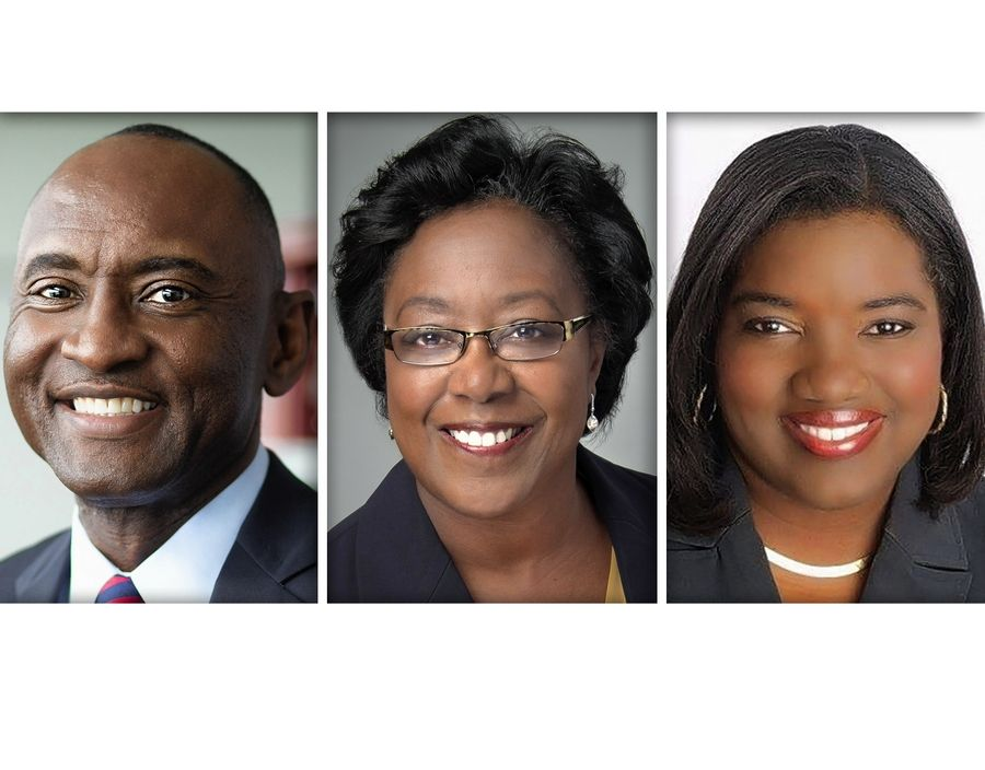 From left, Johnny Moore, Annette Parker and Avis Proctor are the finalists for Harper College president.