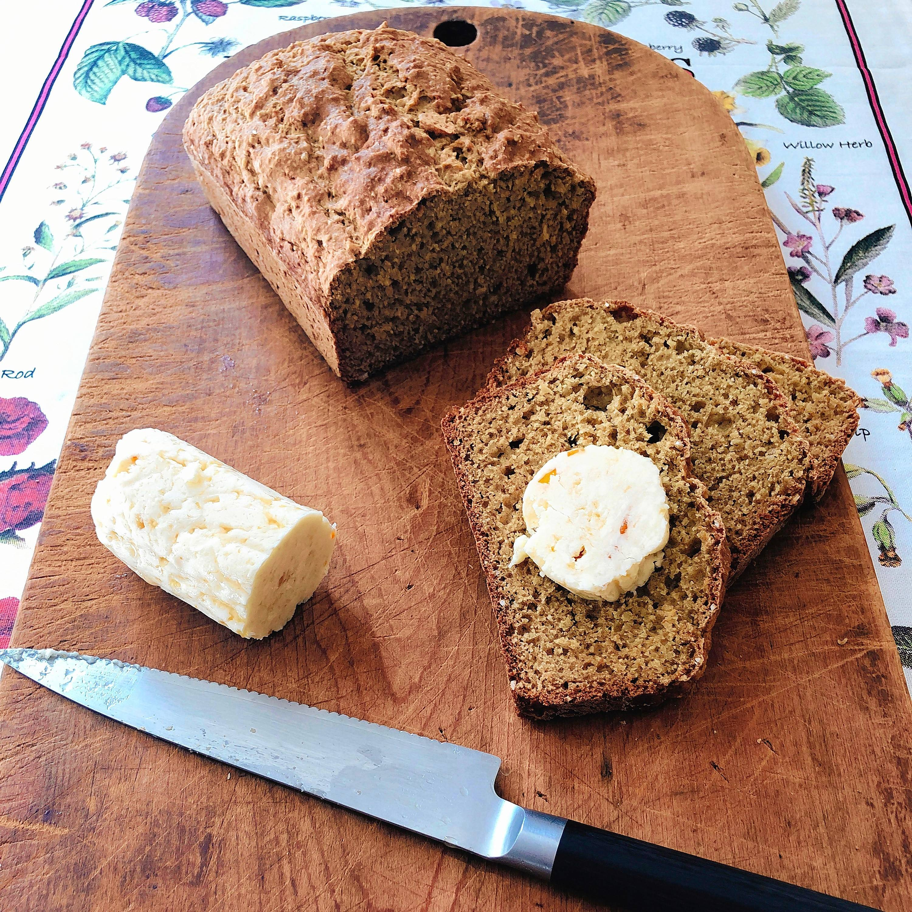 "The mix of the sweet butter, coarse salt, whisky, honey and orange marmalade on warm homemade wheaten bread is a perfect pairing and conjures up images of Scotland -- this would be a great snack for ""Outlander"" fans!"