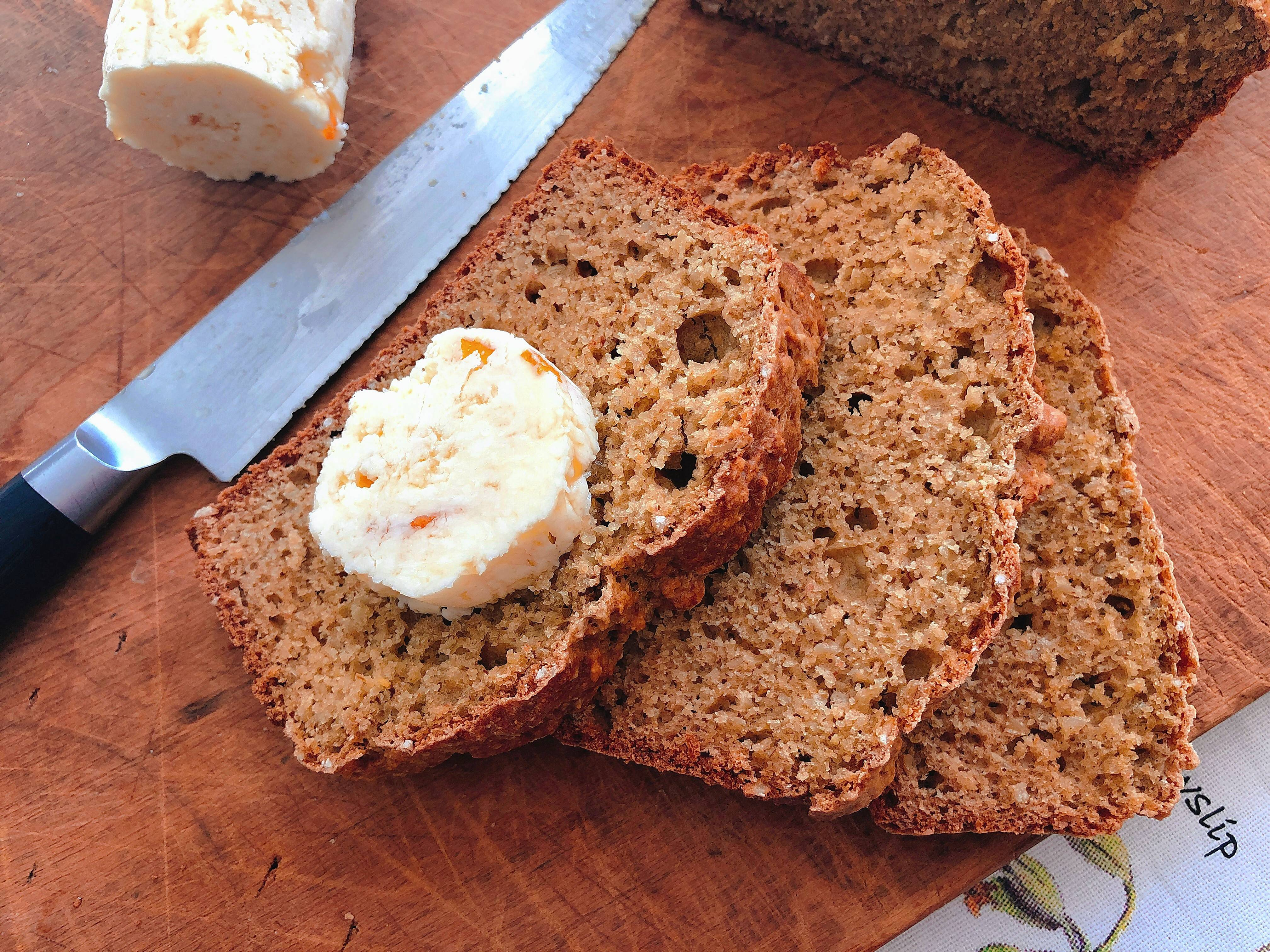 Wheaten Bread With Sweet Scotch Whisky Butter