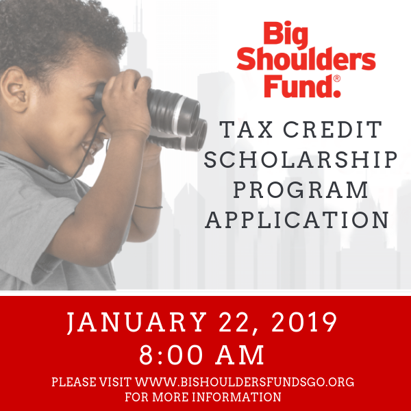 Big Shoulders Fund Accepts Applications January 22 at 8 amBig Shoulders Fund