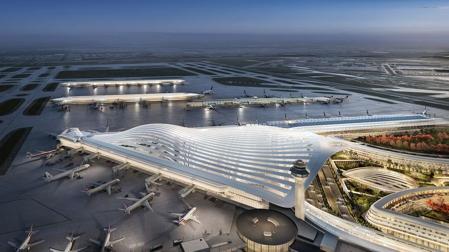This design for the new O'Hare Global Terminal is from the architectural firm Santiago Calatrava Ltd.