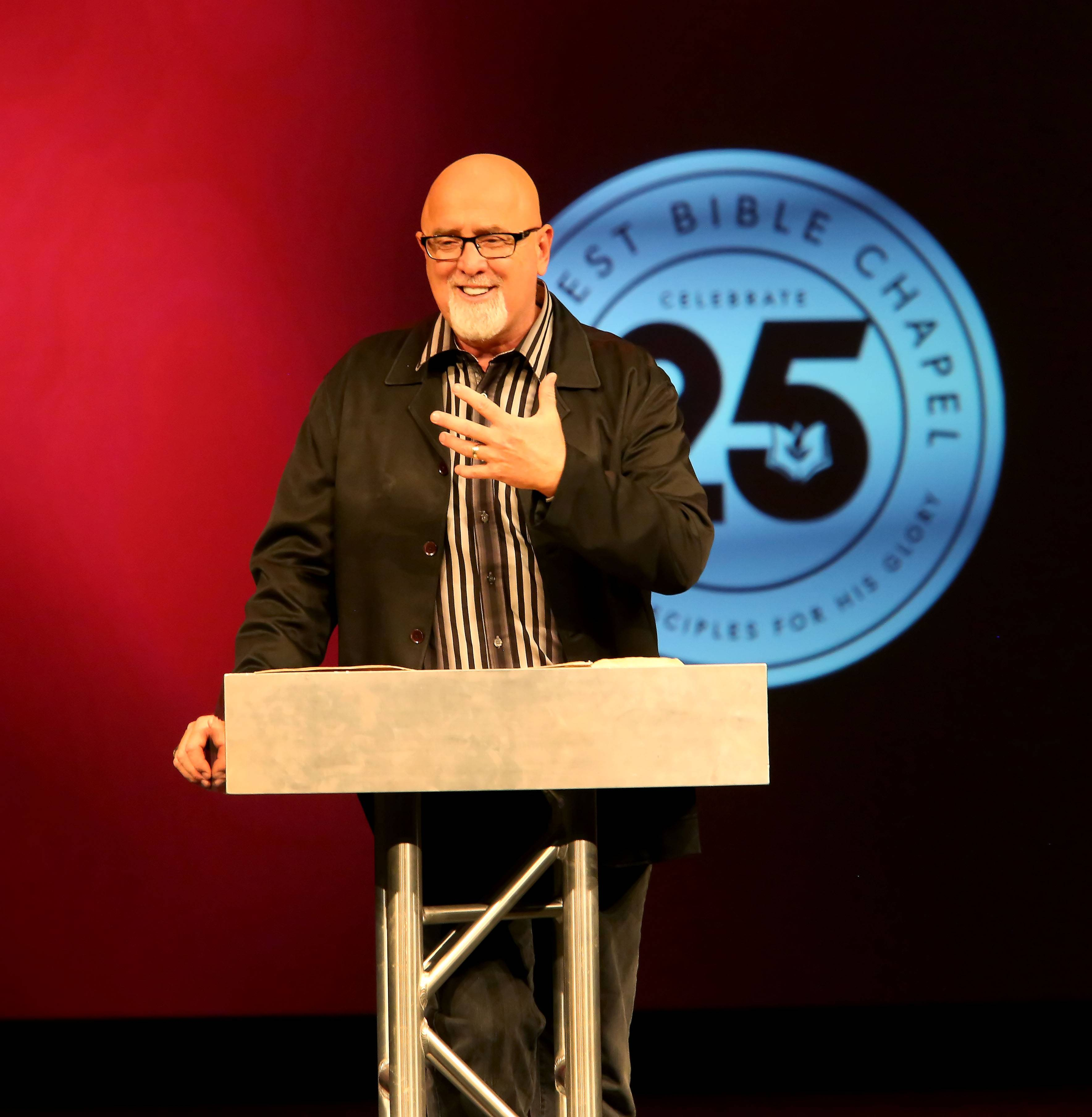 Senior Pastor James MacDonald preaches at Harvest Bible Chapel in Elgin.