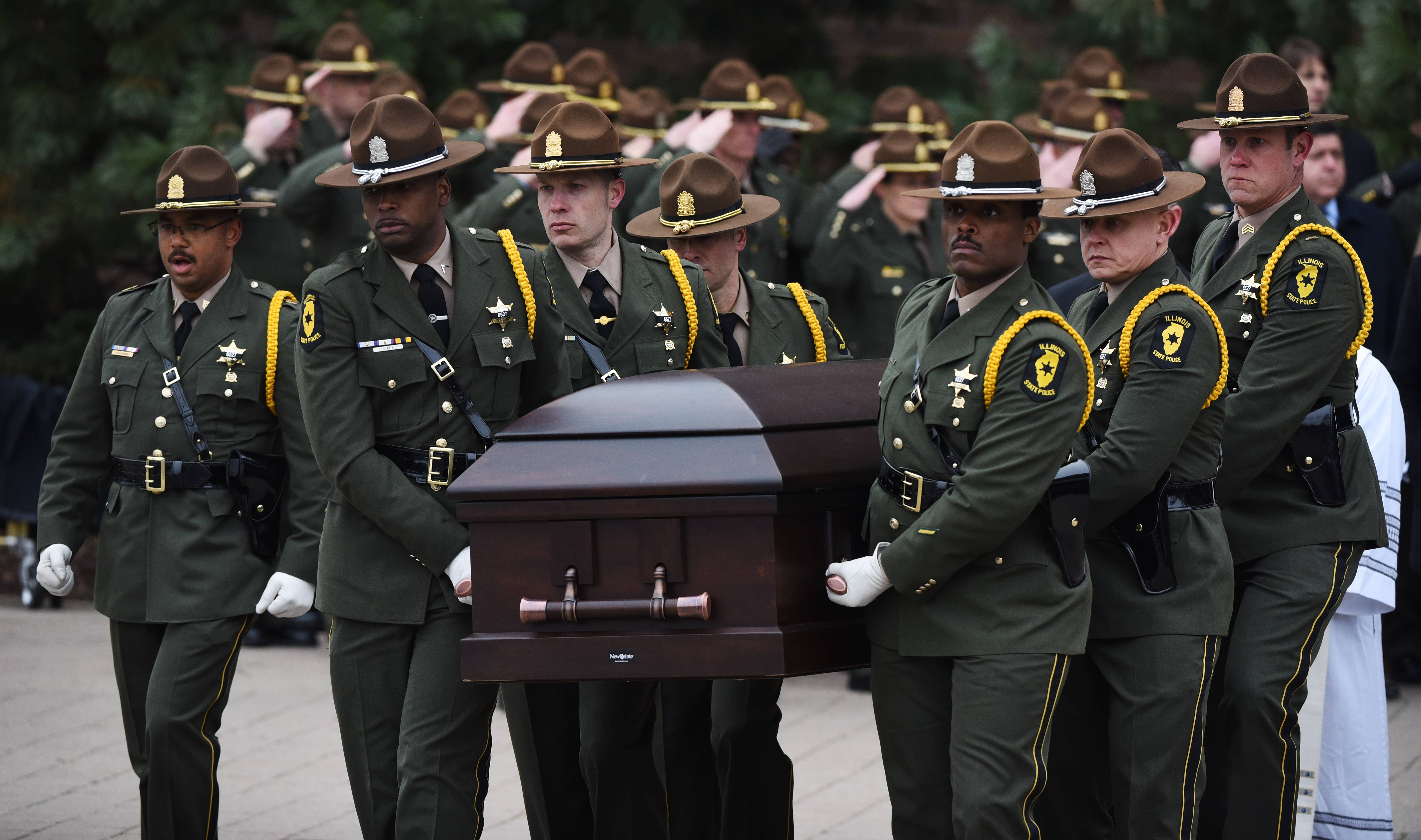 Images: Funeral for Illinois State Police Trooper Christopher Lambert