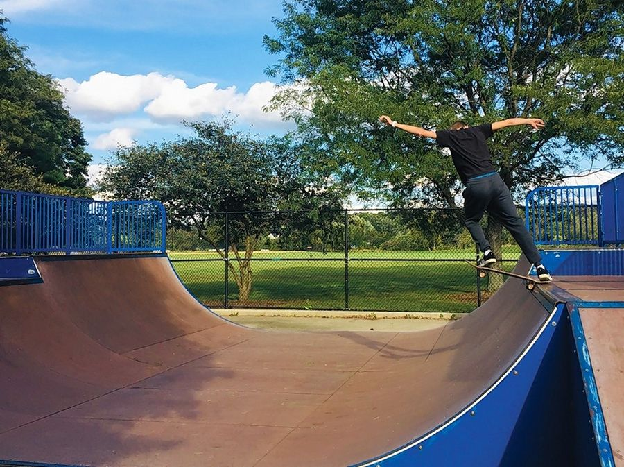 "Lisle High School student Joey Chan captured first place in Lisle Park District's 2018 photo contest for his image titled ""Don't Be Ordinary,"" taken at the skate park in Community Park."