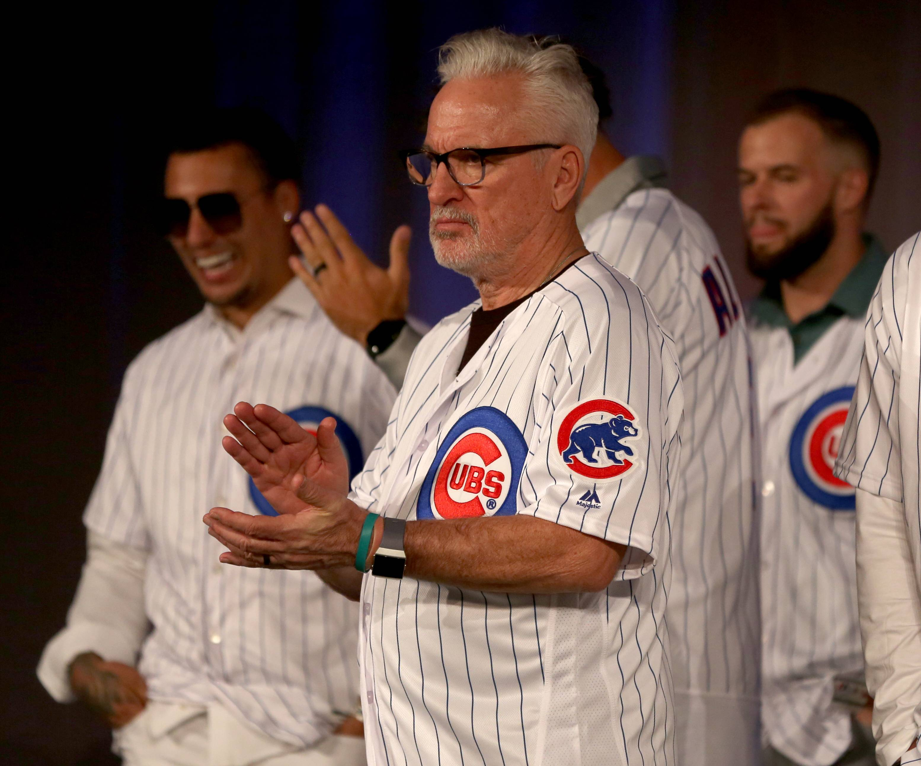 Joe Maddon appears during opening night Friday of the 2019 Chicago Cubs Convention at the Sheraton Grand in Chicago.