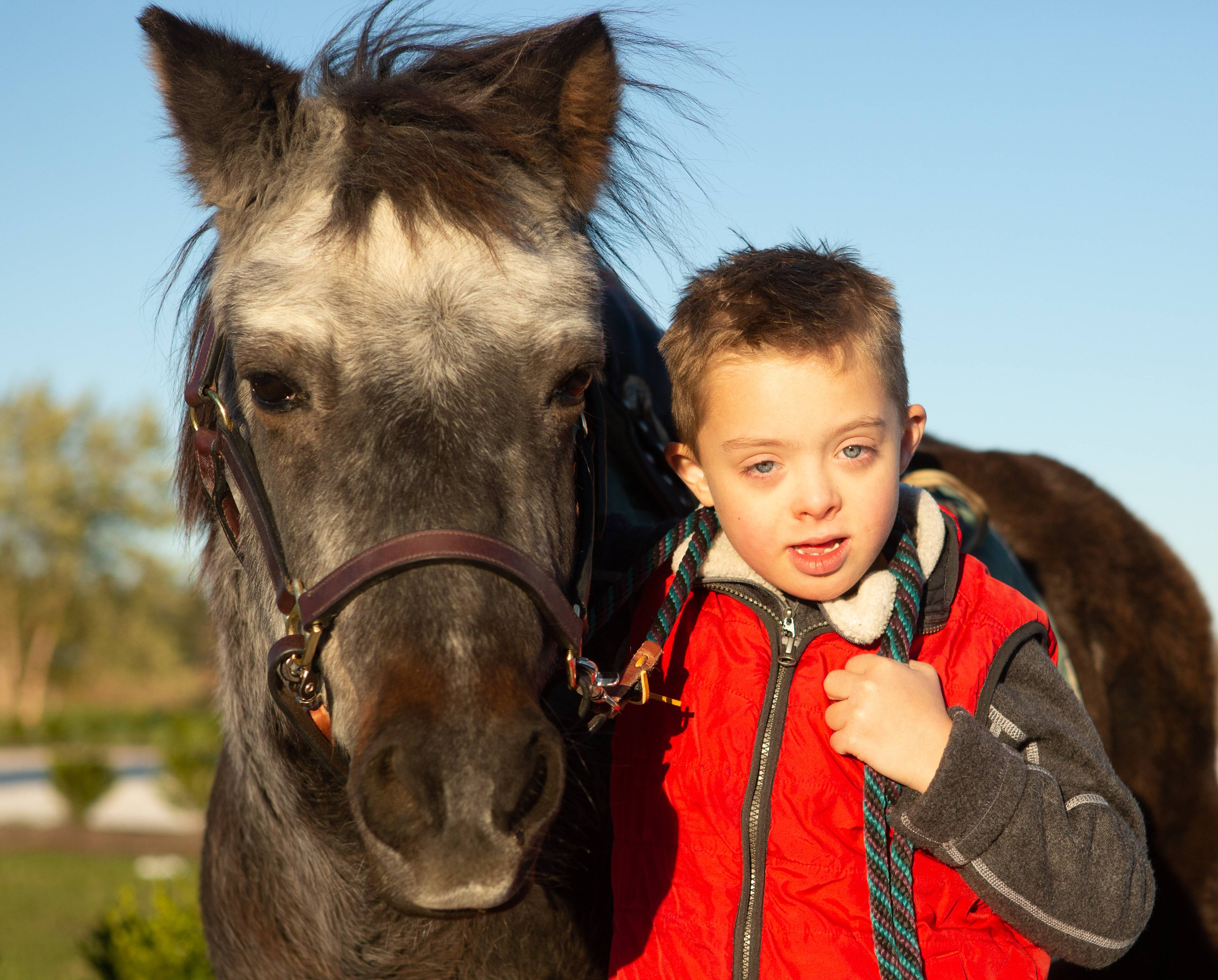 Josh Martin of St. Charles and his equine therapy pony Berry star in a documentary that will premiere Jan. 23 at the Arcada Theatre.