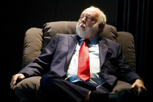 FILE -- In this Tuesday, Feb. 7, 2017 photo government commissioner in charge of the development of Hungary's film industry, Andy Vajna, participates in a discussion in the headquarters of the Hungarian National Film Fund in Budapest. On Sunday, Jan. 20, 2019 the Hollywood producer, who was a prominent figure of the Hungarian and international film industry, died at the age of 74 after a long illness in his Budapest home. (Zoltan Balogh/MTI via AP, file)