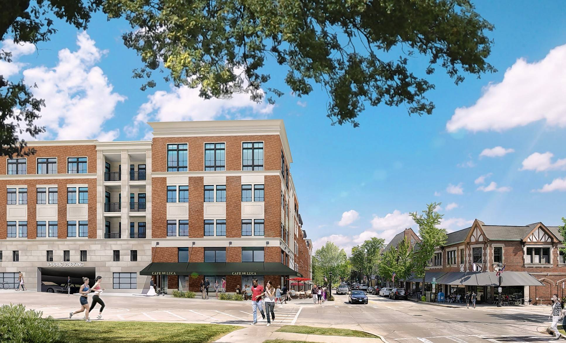 A proposed five-story apartment complex at the corner of Main Street and Hillside Avenue in Glen Ellyn is drawing criticism from some who say it would destroy the feel of the village's downtown.