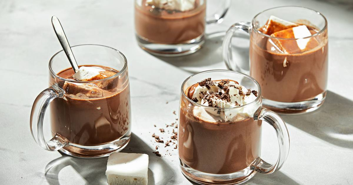 This rich homemade hot chocolate is the ultimate snow-day treat