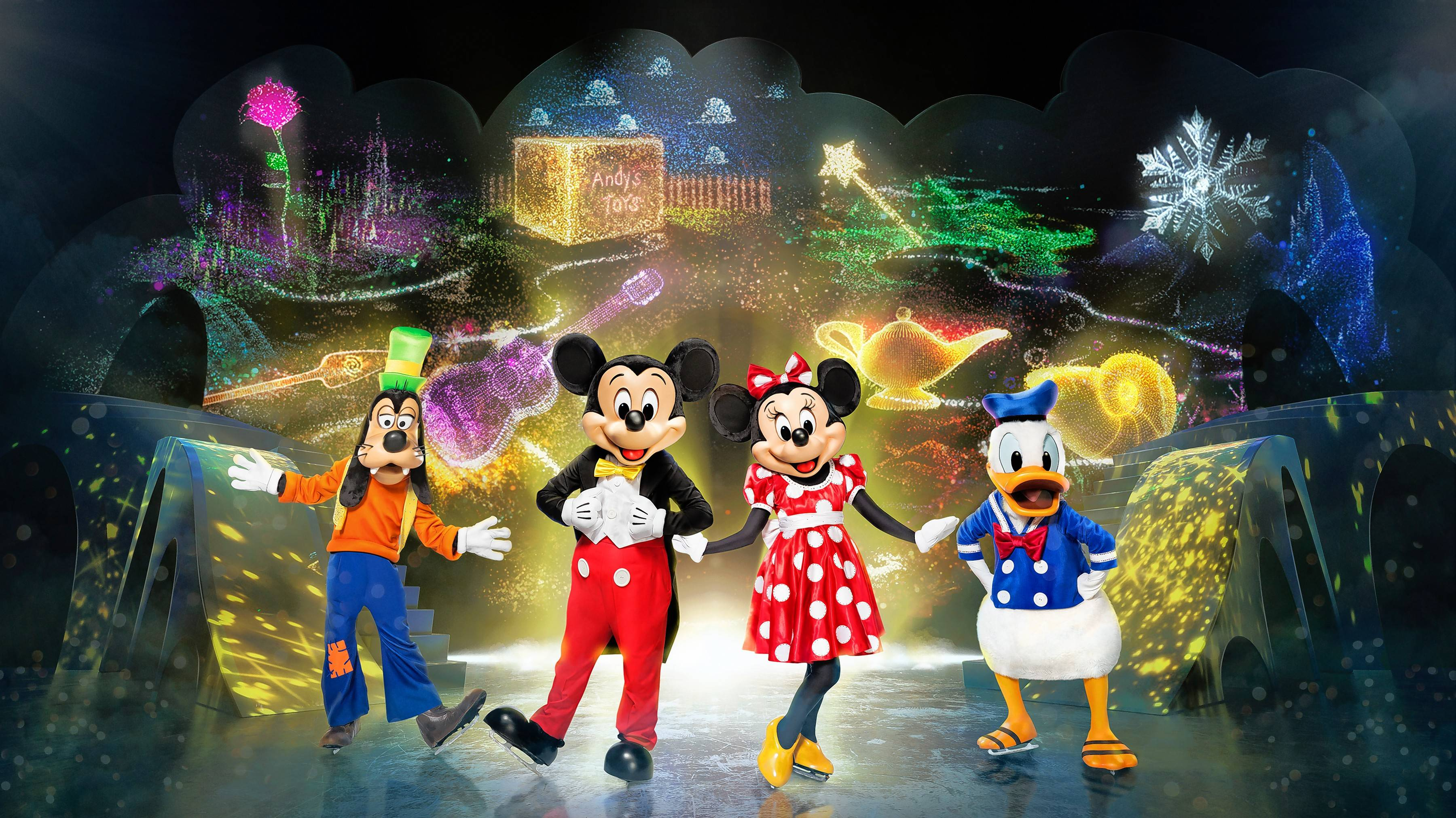 """Disney On Ice: Mickey's Search Party"" plays both the Allstate Arena in Rosemont and the United Center in Chicago."