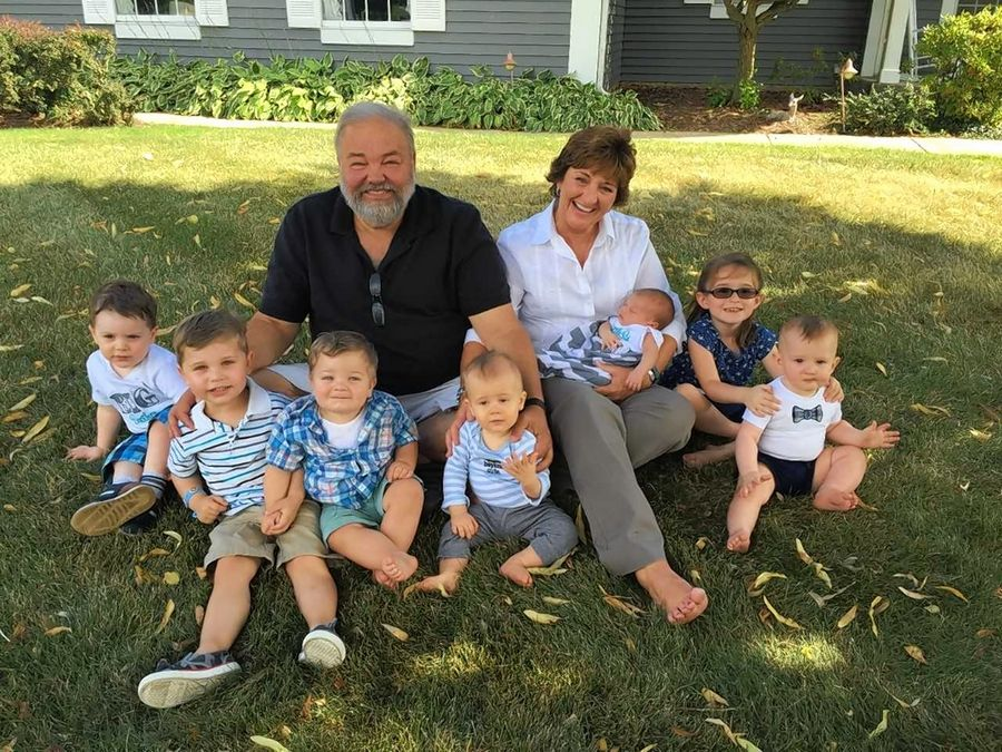 Gary Christenson and his wife, Tammy Ray, are pictured with their grandchildren in 2016. Christenson, 65, died Jan. 13.