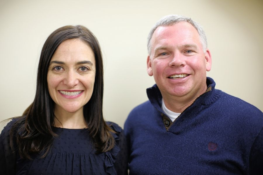 Courtney Lang and Randy Reid, who are running together as a slate for Elk Grove Township Elementary District 59 school board, can remain on the April 2 ballot, a Cook County panel has determined.
