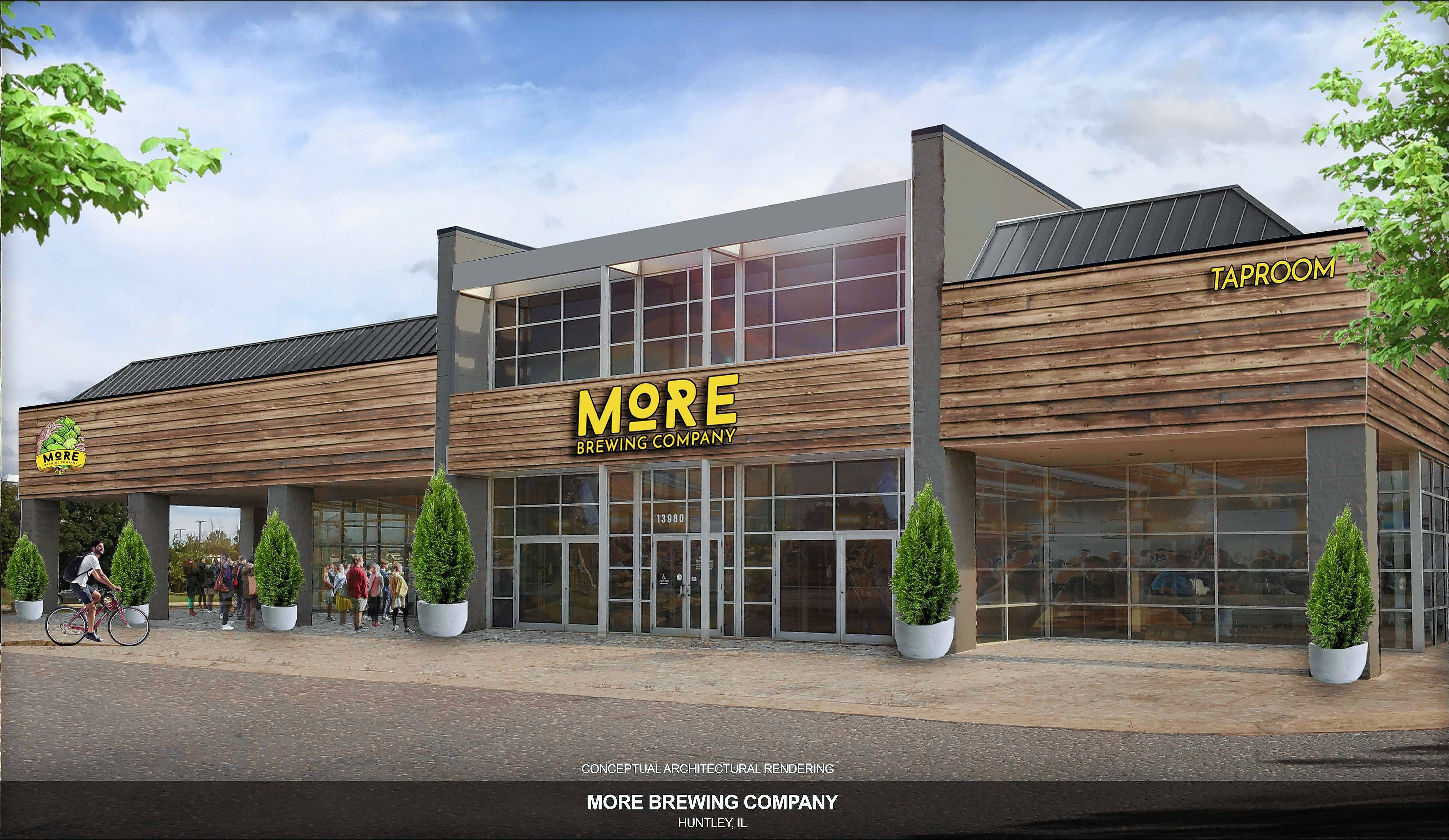 Villa Park-based More Brewing Company has plans to operate a brewery and brewpub restaurant at 13980 Automall Drive in Huntley.