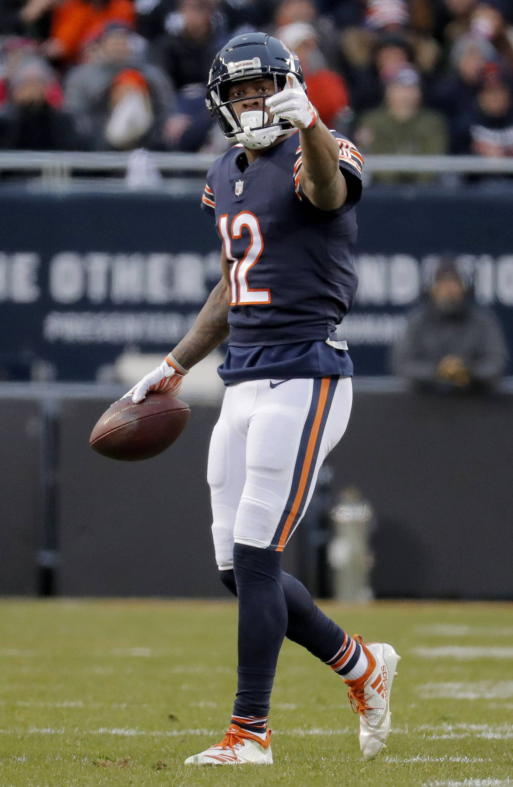 Bears wide receiver Allen Robinson signals a first down against Philadelphia during the NFC Wild-Card game earlier this month at Soldier Field.
