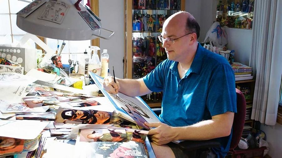 Works of renowned comic book artist Alex Ross coming to Dunn Museum