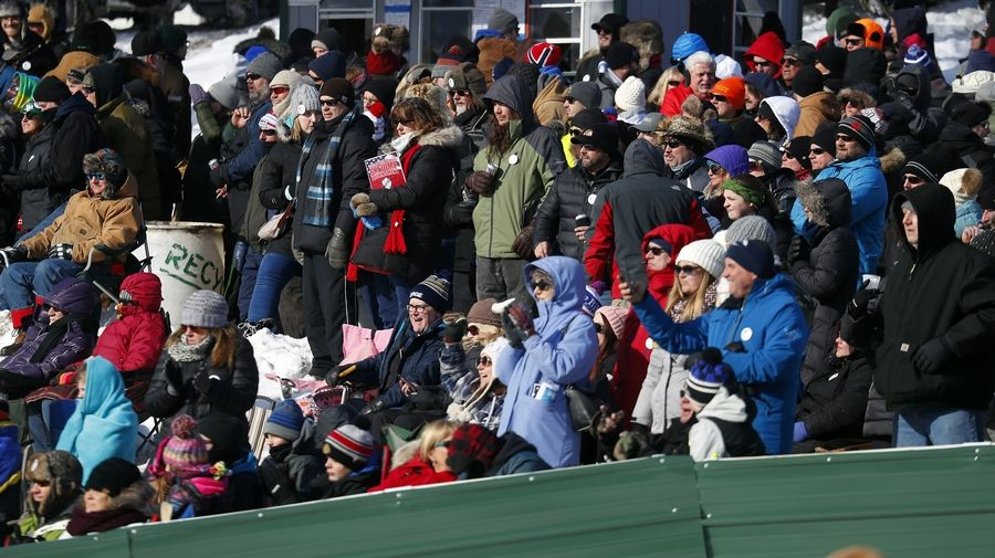 The bitter cold couldn't keep ski jump enthusiasts away from the Norge Winter Ski Jump Tournament Sunday in Fox River Grove.