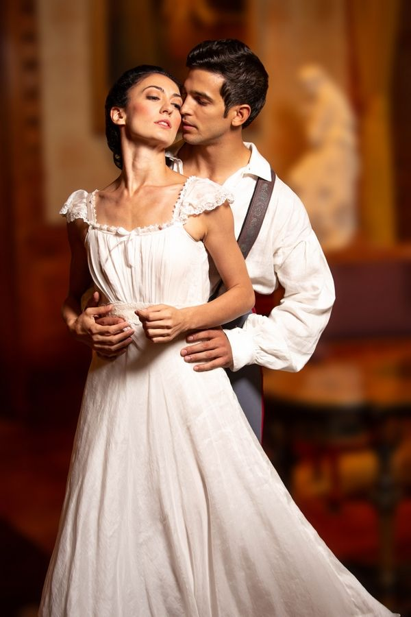 "The Joffrey Ballet Artists Victoria Jaiani and Alberto Velazquez will perform the main roles of Anna and Vronsky in the world premiere of Yuri Possokhov's ""Anna Karenina."" Photo by Cheryl Mann. Courtesy of The Joffrey Ballet Company. Shot on location at The Richard H. Driehaus Museum."