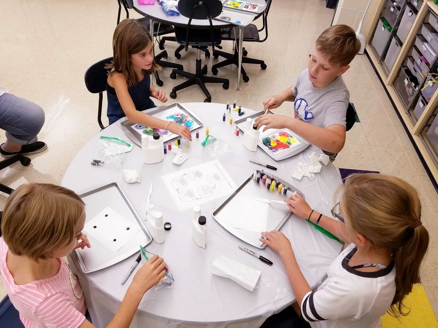 Students create dendritic art in a 2018 Ripple Effect program at Water Street Studios in Batavia. Starting this fall, the program also will be offered at Messenger Public Library in North Aurora.
