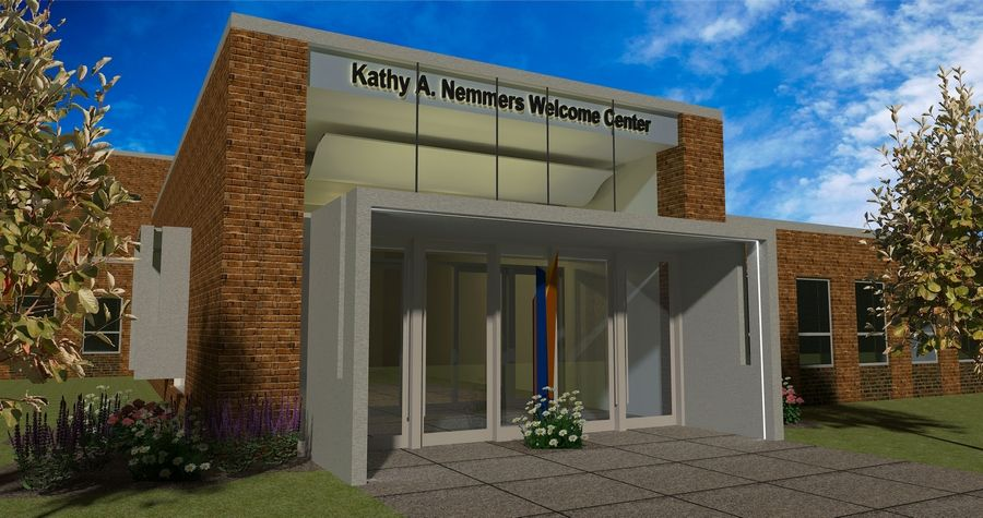 The Kathy A. Nemmers Welcome Center at Carmel Catholic High School is expected to be completed by August 2019. It will include a new main entrance to the school.