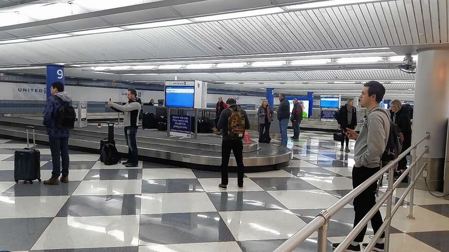 Frigid weather provided an unwelcome greeting Wednesday for travelers arriving at O'Hare International Airport from warmer locations.
