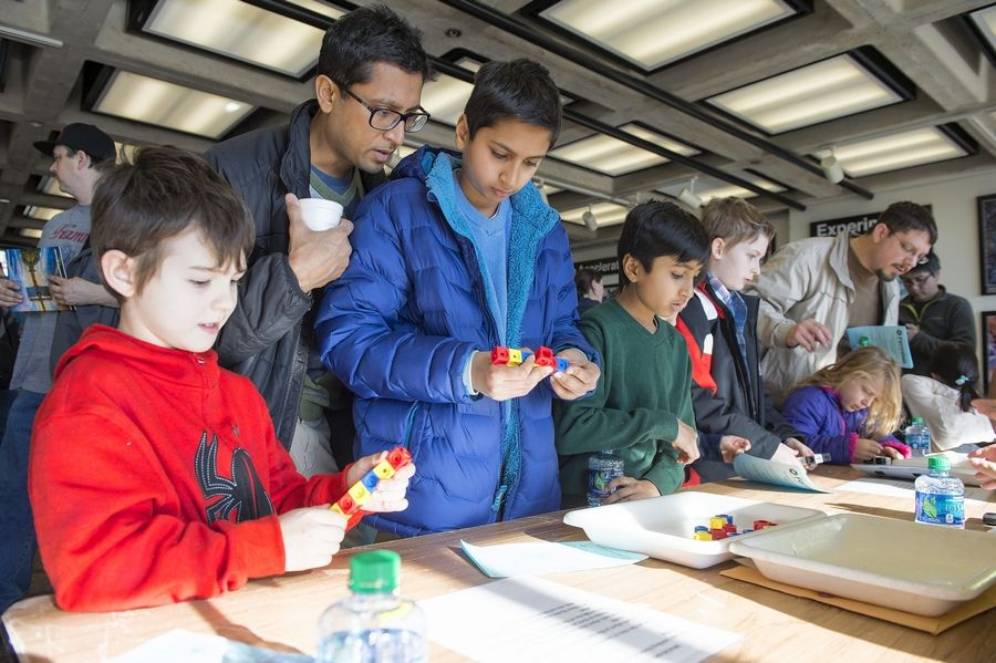 Kids can try to make as many structures as they can while following the same kinds of rules particles use to combine at the Family Open House on Sunday, Feb. 10, at Fermilab in Batavia.