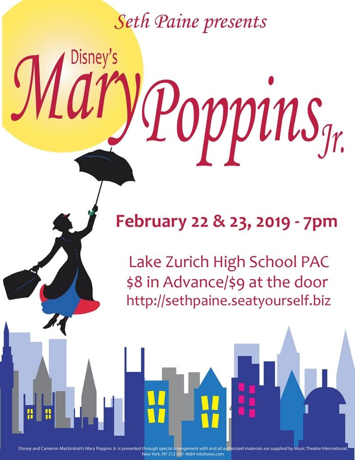 Seth Paine Musical Mary Poppins FlyerBrad Panarese