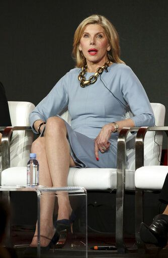 "Christine Baranski participates in the ""The Good Fight"" show panel during the CBS All Access presentation at the Television Critics Association Winter Press Tour at The Langham Huntington on Wednesday, Jan. 30, 2019, in Pasadena, Calif. (Photo by Willy Sanjuan/Invision/AP)"