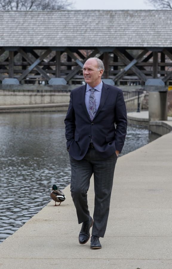Naperville Mayor Steve Chirico, 58, has largely focused on setting the city on the right financial track during his first term in office. He seeks a second term in the April 2 election to broaden his focus on preserving and improving the city.