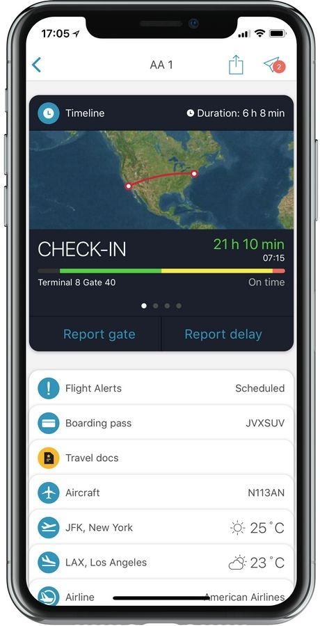 App in the Air can help travelers predict wait times for TSA security lines.
