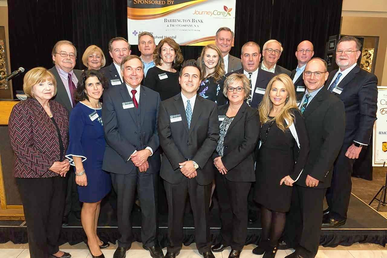 The Barrington Area Chamber of Commerce 2019 Board Leadership was sworn in at the chamber's annual Dinner and Scholarship Fundraiser on Jan. 17 at Avante Banquets and Conference Center in Fox River Grove.