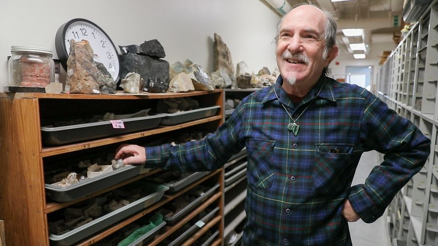 """The irony is that such a small program has such a large collection of things that we've been given, so we are going to offer these so that we redistribute them to people who will show them,"" says retired Wheaton College professor Jeff Greenberg, who is organizing a geology department sale of rocks, minerals, maps and fossils."