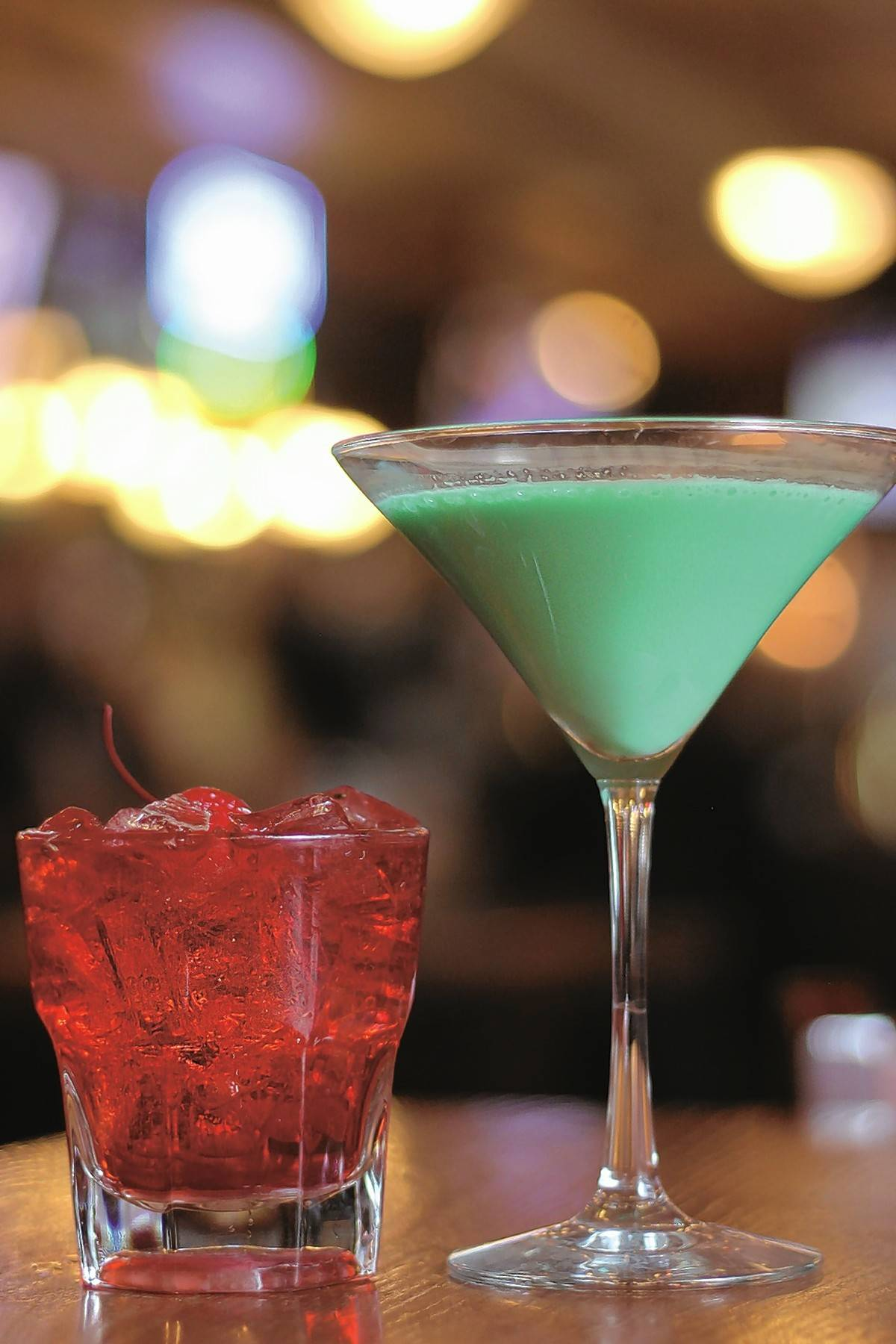 Start off your Valentine's meal with the Swipe Left chambord Manhattan or the Swipe Right chocolate mint martini at Harry Caray's.