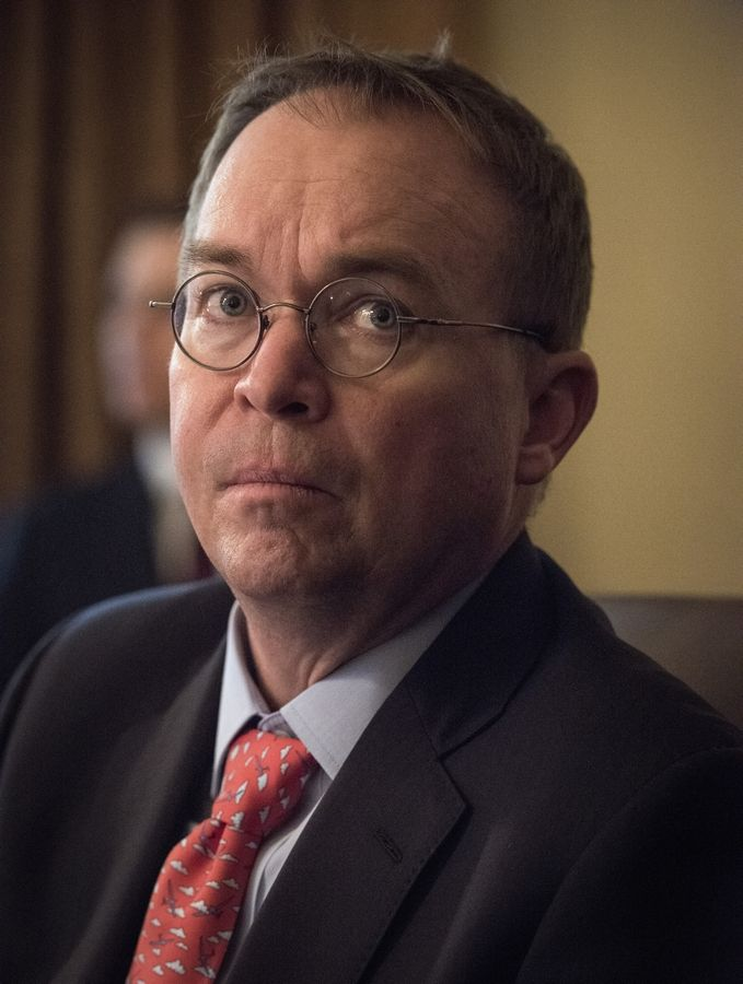 Comments Wednesday by Acting Chief of Staff Mick Mulvaney, seen here on Jan. 2, suggest President Trump is readying a plan to fund a wall that would not require approval from Congress.