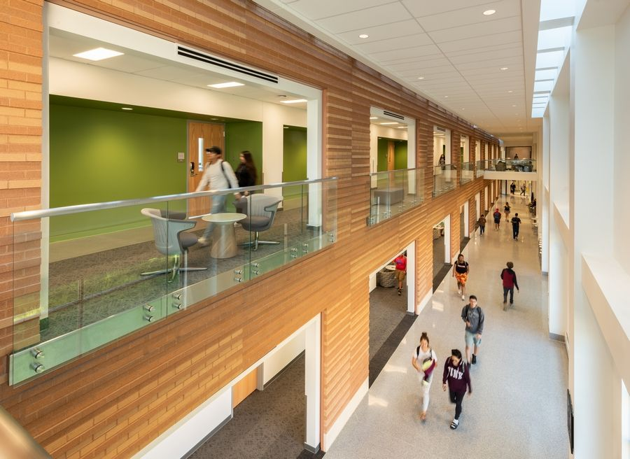 The College of Lake County's Science & Engineering Building, located on the Grayslake Campus, has earned LEED® Platinum certification by the U.S. Green Building Council.