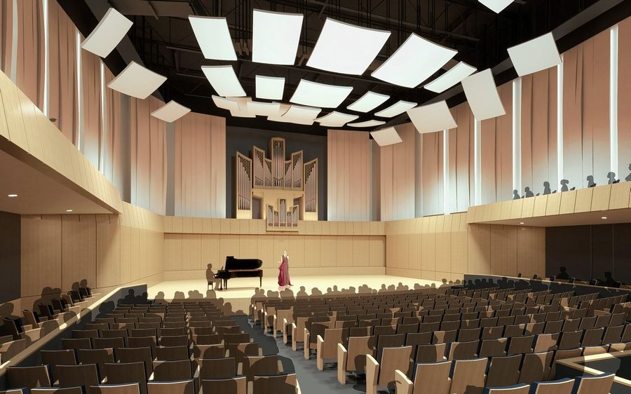A new concert hall will be built as part of an addition to the Armerding Center for Music and the Arts at Wheaton College.