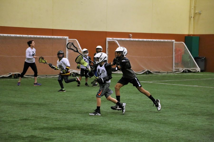 Indoor lacrosse clinics are offered at Falcon Park Recreation Center in Palatine.