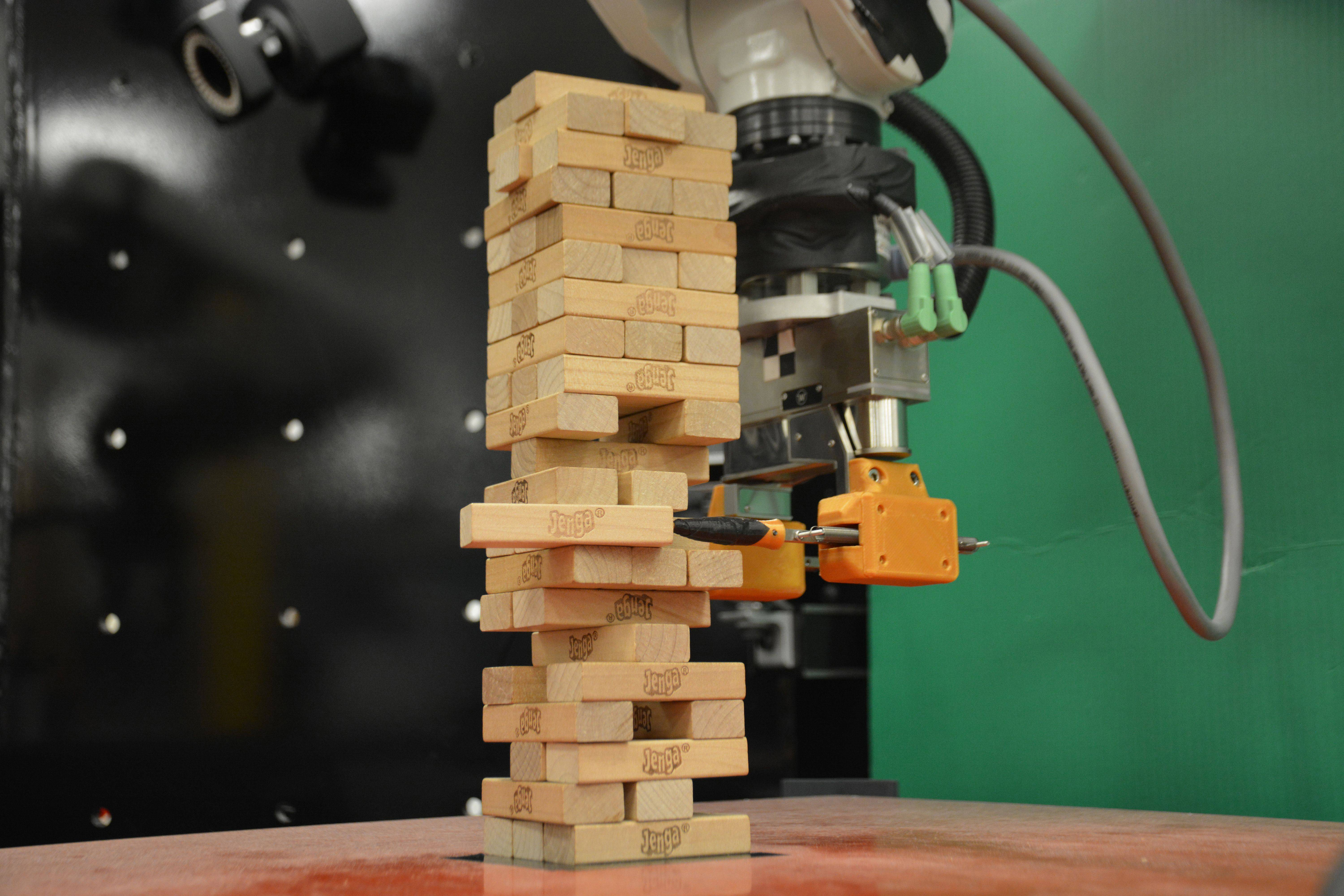 Jenga-playing robot. MUST CREDIT: Courtesy of the researchers.