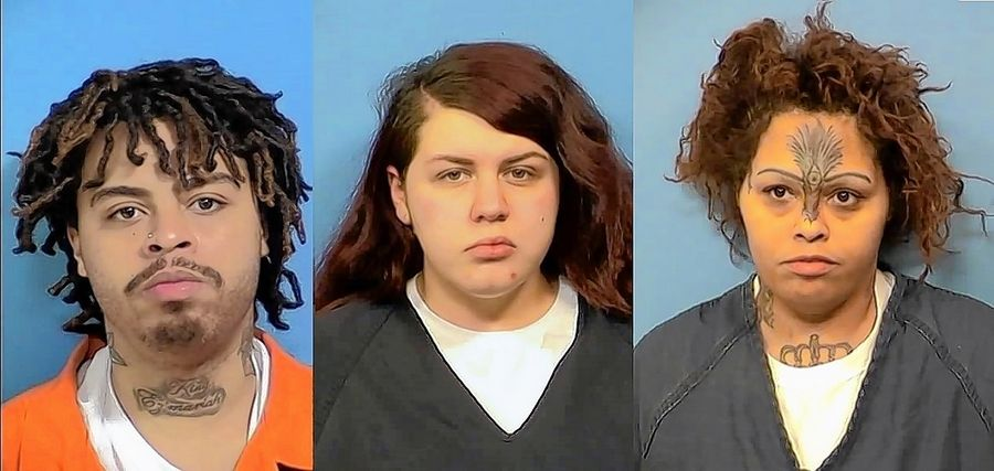 Ernest Collins, 22, of Rockford, Cassandra Green, 21, of Rockford, and Candice Jones, 38, of Chicago are charged in the January 2018 first-degree murder of 20-year-old Michael Armendariz of Naperville.