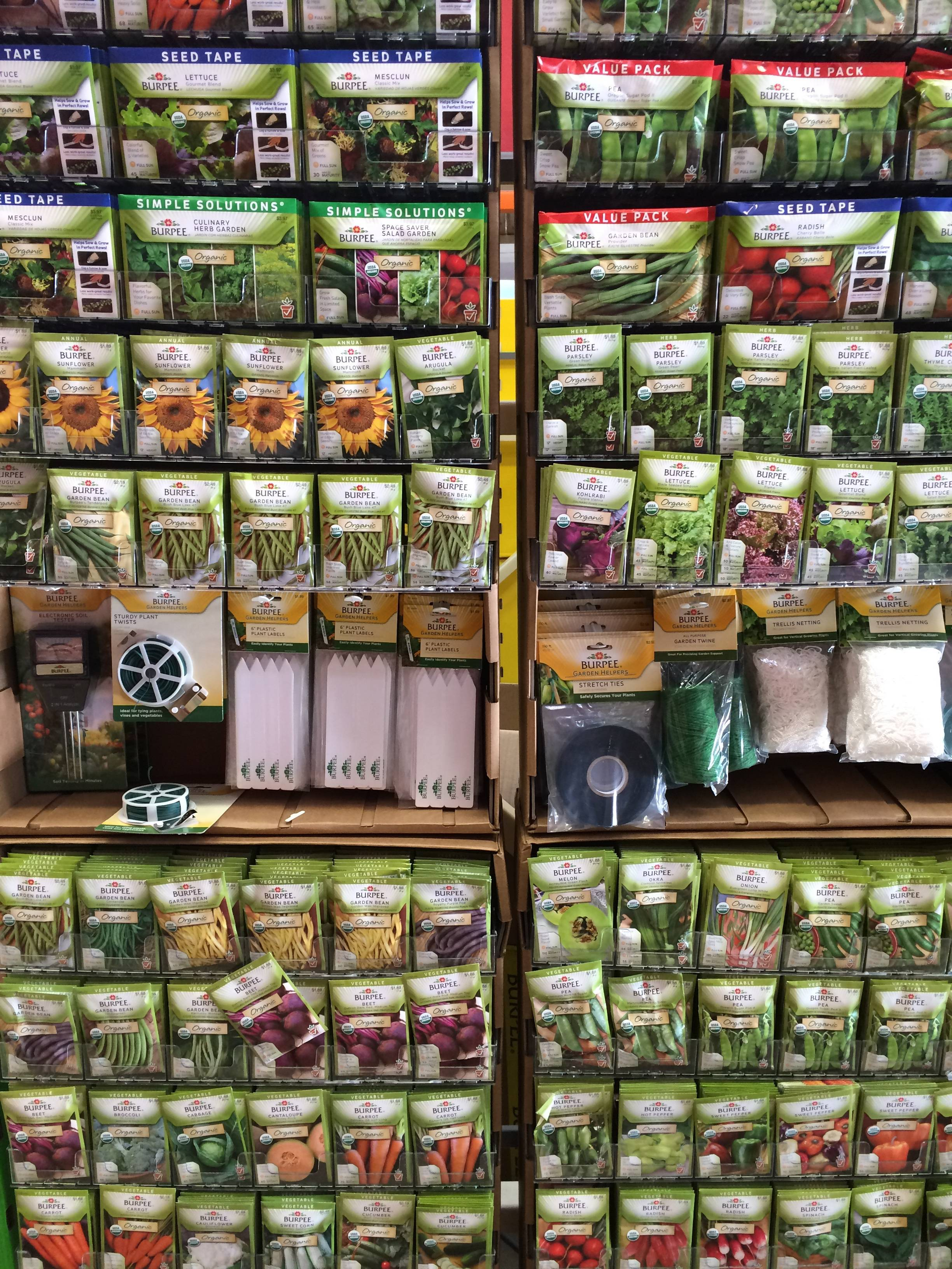 Though it's too early to start vegetable seeds for the spring, they're now available in stores, online and in catalogs.