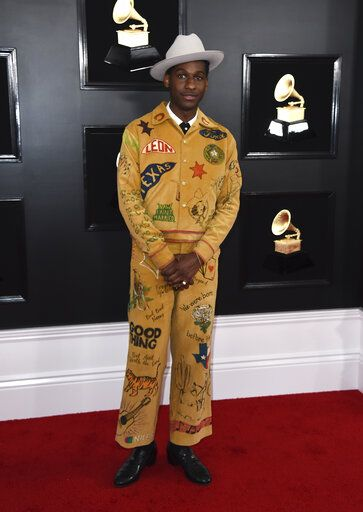 Leon Bridges arrives at the 61st annual Grammy Awards at the Staples Center on Sunday, Feb. 10, 2019, in Los Angeles. (Photo by Jordan Strauss/Invision/AP)