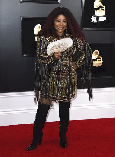 Chaka Khan arrives at the 61st annual Grammy Awards at the Staples Center on Sunday, Feb. 10, 2019, in Los Angeles. (Photo by Jordan Strauss/Invision/AP)